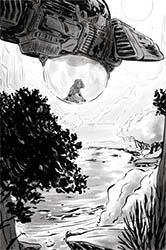 Ilustración interior de El informe Monteverde, de Marina Vidal